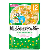 ข้าวผัดกับข้าวสาลีและเต้าหู้ญี่ปุ่น