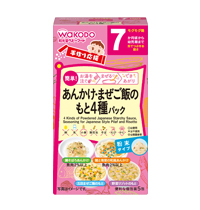 4 Kinds of Powdered Japanese Starchy Sauce, Seasoning for Japanese Style Pilaf and Risotto